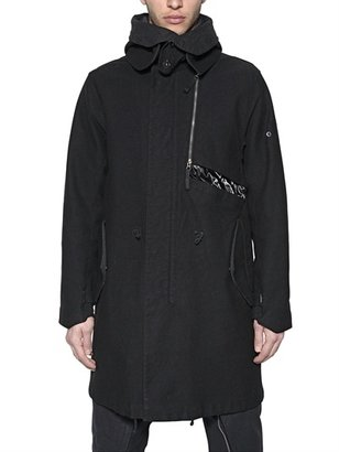 Stone Island Shadow Project - Dyed Linen & Wool Asymmetric Patch Parka