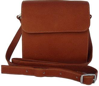 Piel Square Flap-Over Handbag