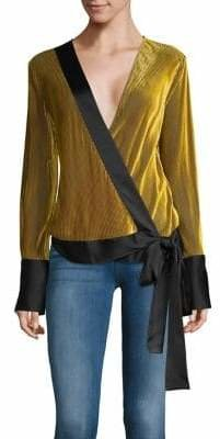 Diane von Furstenberg Long-Sleeve Self-Tie Blouse