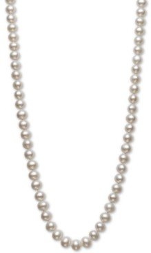 """Belle de Mer Aa+ 22"""" Cultured Freshwater Pearl Strand Necklace (7-1/2-8-1/2mm) in 14k gold"""