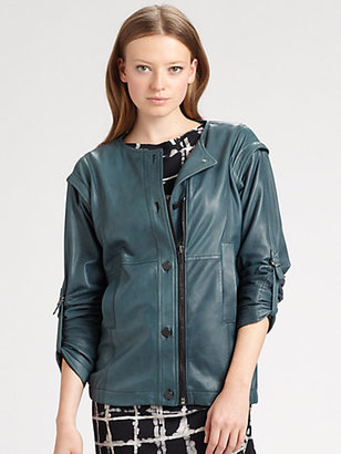 Kelly Wearstler Fallen Convertible Leather Jacket