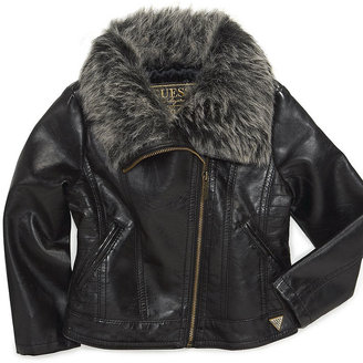 GUESS Jacket, Baby Girls Pleather Jacket