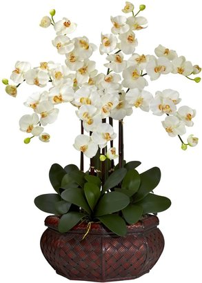 Nearly Natural Silk Phalaenopsis Large Floral Arrangement