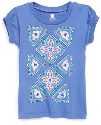 Tea Collection 'Harbor Tile' Tee (Toddler Girls)