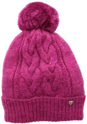 Juicy Couture Women's All That Glitters Sparkle Cable Beanie