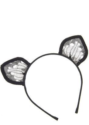 Maison Michel Heidi Lace Cat Ears