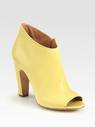 Maison Martin Margiela Leather Open-Toe Ankle Boots