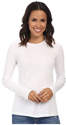 Mod-o-doc Supreme Jersey Fitted L/S Crew (White) Women's T Shirt