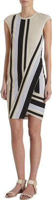 Ohne Titel Stripe Panel Dress