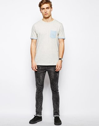 Brave Soul T-Shirt With Boat Print Pocket