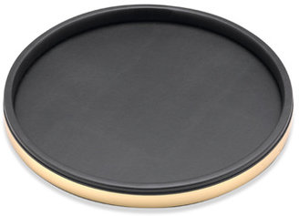 "Bed Bath & Beyond KraftWare™ Sophisticates Deluxe 14"" Serving Tray - Brushed Gold Trim"