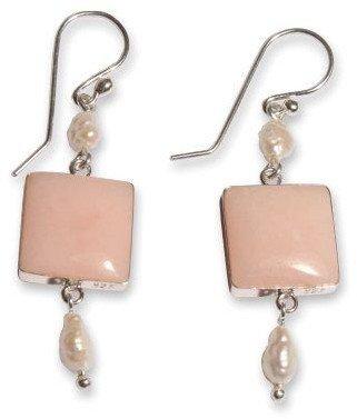 "Novica Artisan Crafted Sterling ""Pink Windows""Earrings"