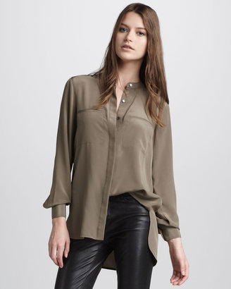 Vince Two-Pocket Silk Shirt