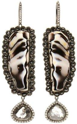 Black Diamond Kimberly Mcdonald zebra opal and drop earrings