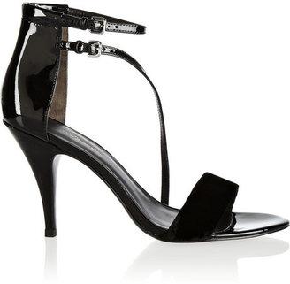 3.1 Phillip Lim Quill velvet and patent-leather sandals