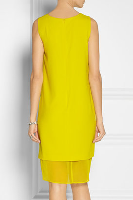 DKNY Georgette-paneled crepe dress