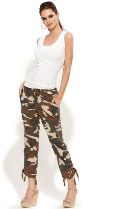INC International Concepts Pants, Camouflage Cropped Cargo