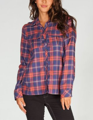 DOLLED UP Knit Back Womens Flannel Shirt
