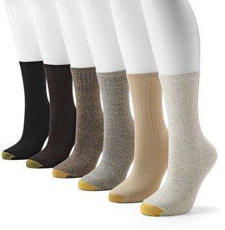 Gold Toe GOLDTOE 6-pk. Ribbed Crew Socks
