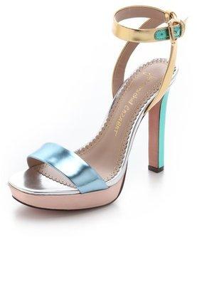 Jean-Michel Cazabat Holiday Platform Sandals