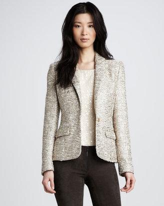 Alice + Olivia Elyse Metallic Tweed Blazer