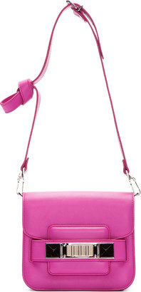 Proenza Schouler Tiny Fuchsia Leather PS11 Shoulder Bag