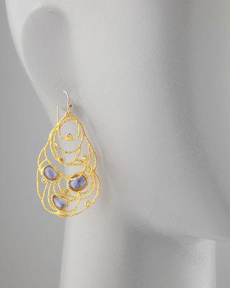 Alexis Bittar Mauritius Golden Lace Drop Earrings