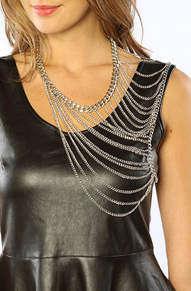 *Accessories Boutique The Shoulder Chain in Silver