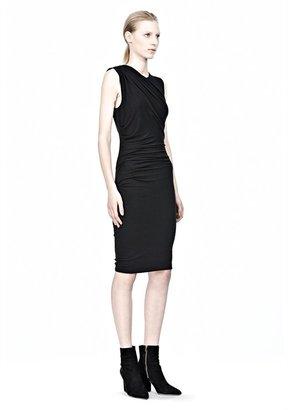 Alexander Wang Mohair Jersey Sleeveless Drape Dress