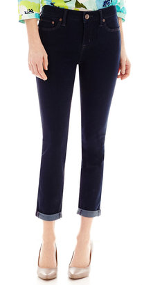 STYLUS Stylus Roll-Cuff Skinny Ankle Jeans Petites $48 thestylecure.com