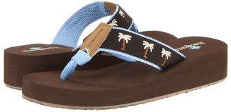 Margaritaville Breezy Wedge (Dark Chocolate/Powder Blue) - Footwear