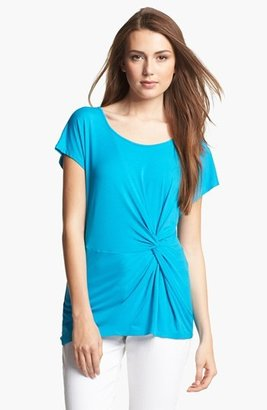 Chaus Twist Front Top Cerulean Small