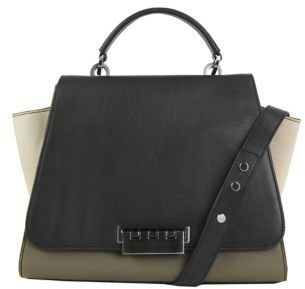 Zac Posen Eartha Leather & Nubuck Shoulder Bag