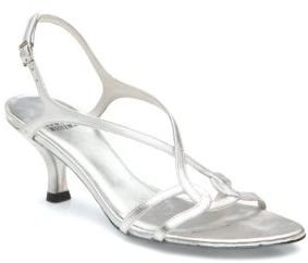 Stuart Weitzman Reversal Strappy Metallic Leather Sandals