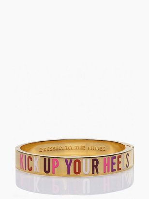 Kate Spade Kick up your heels hinged idiom bangle