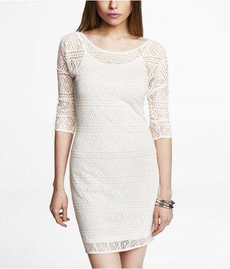 Express Geometric Lace Dress