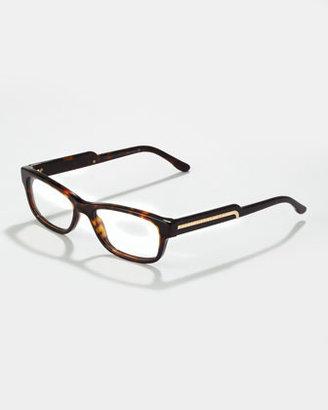 Stella McCartney Rectangular Fashion Glasses, Dark Tortoise