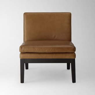 west elm Leather Slipper Chair