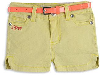 Pumpkin Patch W/S Curved Hem Shorts W.belt