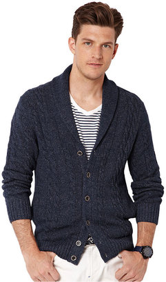 Nautica Sweater, Shawl Cable Cardigan