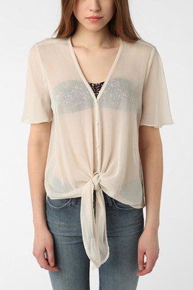 Urban Outfitters Pins and Needles Chiffon Tie Top