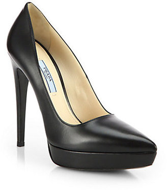 Prada Leather Platform Pumps