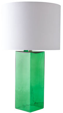 Glass Base Table Lamp