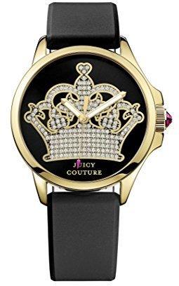Juicy Couture Women's 1901142 Jetsetter Analog Display Quartz Black Watch $145 thestylecure.com