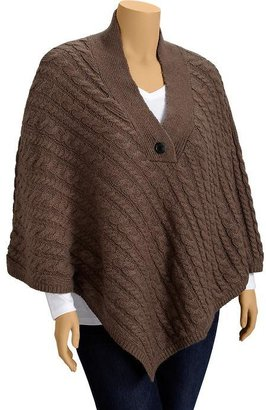 Old Navy Women's Plus Cable-Knit Ponchos