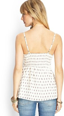Forever 21 Beaded Crossfront Cotton Cami