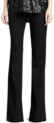 Rachel Zoe Rachel Flared Tuxedo Wool Pants, Black