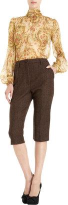 Dolce & Gabbana Tweed Bermuda Pant