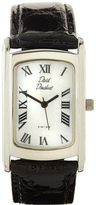 David Donahue Rectangular Watch, Silvertone