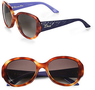 Christian Dior Lady in Oversized Round Plastic Sunglasses